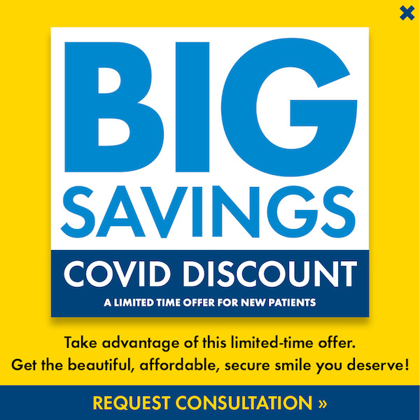 Covid discount 2020 popup